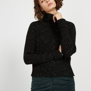 frank and oak Mock Neck wool blend Sweater